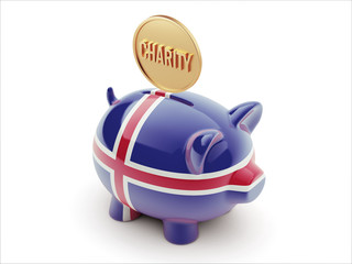 Iceland Charity Concept Piggy Concept