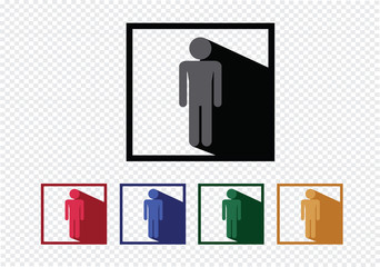Pictogram People icons for web mobile applications and people si