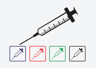syringe icons set