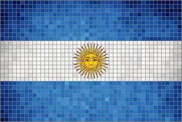 Flag of Argentina - Mosaic