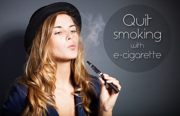 Quit smoking with e-cigarette, quote