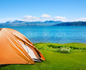 camping near sea