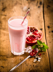 Healthy delicious pomegranate smoothie