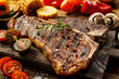 Succulent tender grilled porterhouse steak - 66523118
