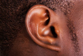 Black male ear