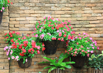 Wall flower pot