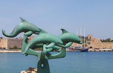 Port of Rhodes island in Greece.
