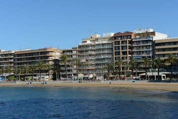 The beach area in Torrevieja