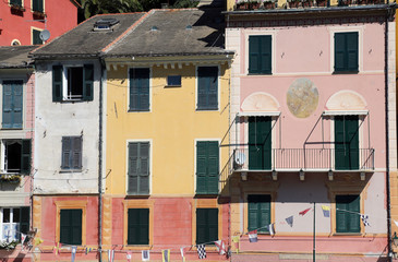 Multicolored houses of Portofino, Italy.