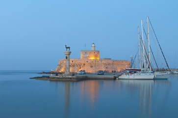 Saint Nikolaos fortress at Rhodes island in Greece
