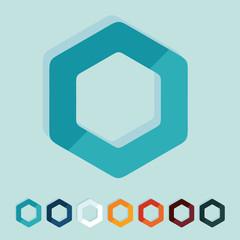 Flat design: polygon