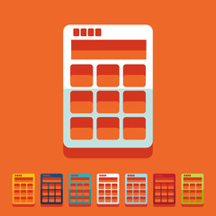 Flat design: calculator