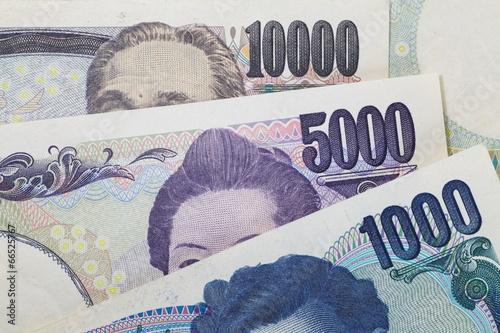 All japanese yen bank note , 10000yen ,5000yen, 1000yen
