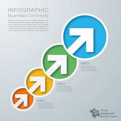Infographics Vector Background BCP Process