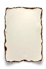 Burnt sheet of A4