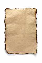 Burnt sheet of parchment