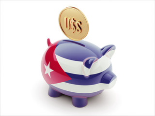 Cuba Dollar Sign Concept Piggy Concept
