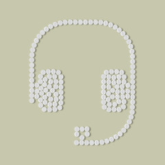 pills concept: headphones