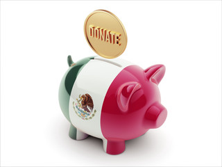 Mexico. Donate Concept Piggy Concept
