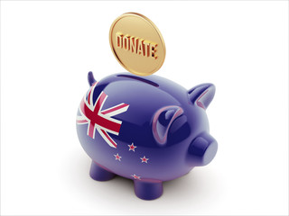 New Zealand Donate Concept Piggy Concept