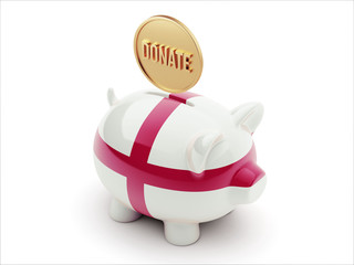 England Donate Concept Piggy Concept
