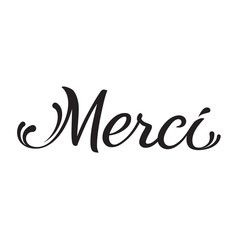 merci - hand written text