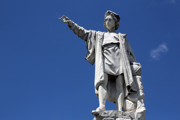 Monument to Christopher Columbus, Santa Margherita Ligure, Italy