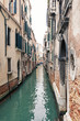 Typical canal of Venice, Italy.