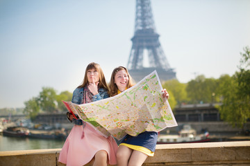 Girls in Paris looking for direction