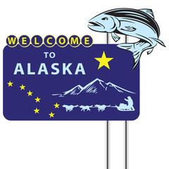 Stand Welcome to Alaska
