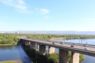 Октябрьский мост. Город Красноярск