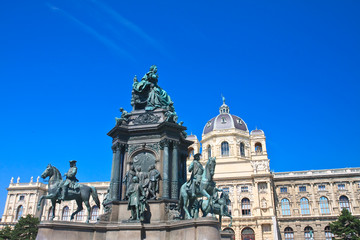 Museum of Natural History. Monument to Maria Theresa. Vienna. Au