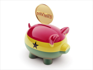 Ghana Education Concept Piggy Concept