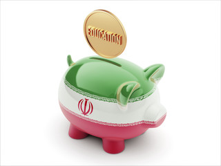 Iran Education Concept Piggy Concept