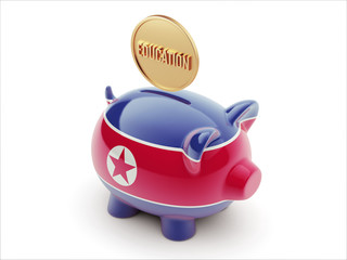 North Korea Education Concept Piggy Concept