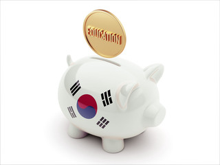 South Korea Piggy Concept