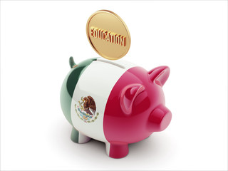 Mexico. Education Concept Piggy Concept