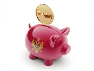 Montenegro. Education Concept  Piggy Concept
