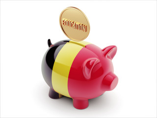 Belgium Education Concept Piggy Concept