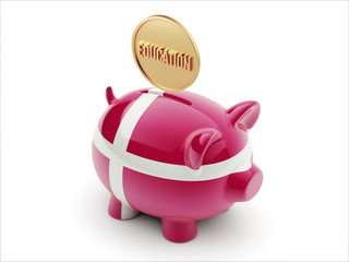 Denmark Education Concept Piggy Concept
