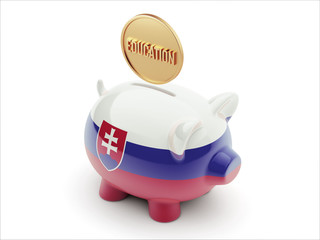 Slovakia Education Concept Piggy Concept