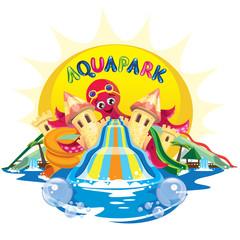 aquapark with octopus