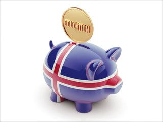 Iceland Education Concept Piggy Concept