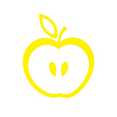 Yellow apple icon