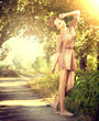 Summer Girl. Beauty Romantic Girl Outdoor