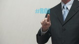 Businessman Pokes Business Words Hashtags poster