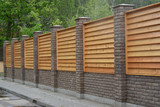 Wooden decorative fence