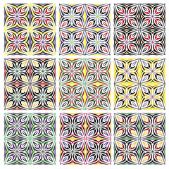 Traditional Italian Tile Pattern Set