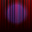 blue spot on curtain red
