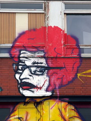 Frau - Wandmalerei